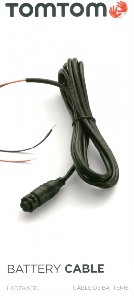 TomTom Batterilader Kabel Motorsykkel + bil  f. TomTom Rider450 Premium Pack
